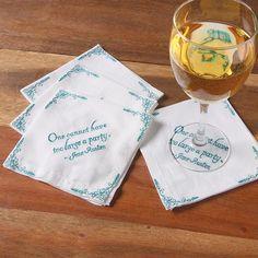 Jane Austen Cocktail Napkins at Bas Bleu | UK0346