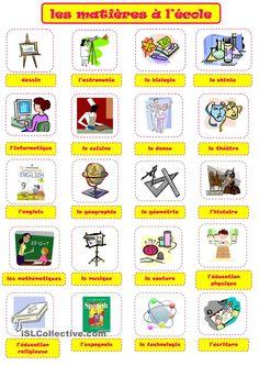 Risultati immagini per activité Fle+matieres scolaire
