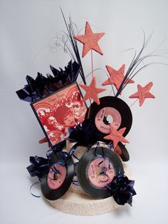 Motown Party Decorations   Motown themed party centerpieces   www.DesignsbyGinny.com/blog