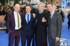 Patrick Stewart, James McAvoy, Sir Ian McKellen and Michael Fassbender attend the UK premiere of 'X-Men: Days Of Future Past' at the Odeon Leicester Square on May 12, 2014 in London, England
