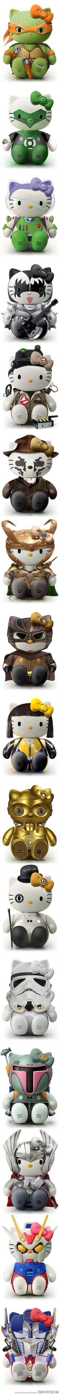 Funny pictures about Hello Kitty Cosplay. Oh, and cool pics about Hello Kitty Cosplay. Also, Hello Kitty Cosplay. Toy Art, Geeks, Nerd Love, My Love, Fraggle Rock, Geek Stuff, Web Design, Kawaii, Buzz Lightyear