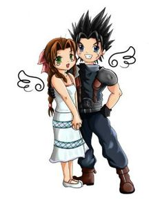 Aerith+Zack - by SpoofeePandah by FirstxLove