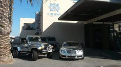 The Shimmy Bentley, Jeep and Hummer parked at Shimmy Beach Club for Valentine's Day 2016 Expensive Cars, Hummer, Beach Club, Park, Vehicles, Lobsters, Hama, Parks