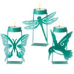 Blue Ombre Tealight Holder [652855] - $12.00 : Saybrook Country Barn, Fine Home Furnishings