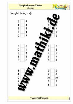 Vergleichen von Zahlen im Zahlenraum bis 10 - ©2011-2016, MATHiki.de | Mathe-Arbeitsblätter & Lösungen #math #arbeitsblatt #worksheet