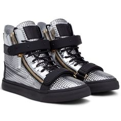 Sneakers - Sneakers Giuseppe Zanotti Design Men on Giuseppe Zanotti Design Online Store @@NATION@@ - Autumn-Winter Collection for men and women. Worldwide delivery.| RU4015002 - CHROME
