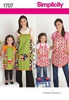 Child's and Misses Matching Aprons Simplicity by ucanmakethis, $3.50