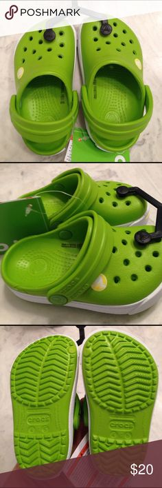 5060e3cf9958e Shop Kids  CROCS Green size Shoes at a discounted price at Poshmark.  Description  Children s size Crocs Volt green