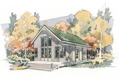 Cabins & Cottages Under 1,000 Square Feet: Shoreline Cottage Plan #490