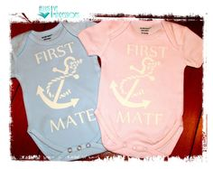 First Mate with Nautical Anchor Baby door AllusiveImpressions