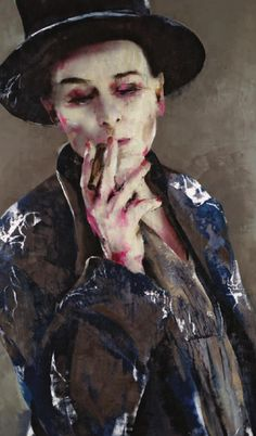 Lita Cabellut - We are the dots and commas in the sonnet of art. - Lita Cabellut is a Spanish artist who lives and works in The Netherlands. Spanish Painters, Spanish Artists, Portraits, Portrait Art, Mixed Media Canvas, Mixed Media Art, Figure Painting, Painting & Drawing, Kunst Online