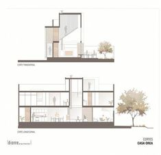 Image 14 of 17 gallery Orea House / Dionne Architects. sections Concept Board Architecture, Section Drawing Architecture, Architecture Portfolio Layout, Architecture Presentation Board, Architecture Collage, Architecture Graphics, Futuristic Architecture, Facade Architecture, Residential Architecture