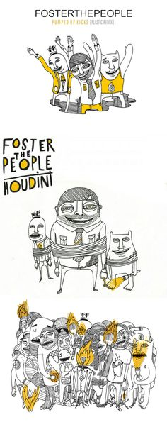 foster the people cover cd illustrations