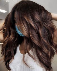 Chocolate Brown Hair Color, Brown Hair Colors, Chocolate Brunette Hair, Subtle Hair Color, Hair Color Caramel, Hot Hair Colors, Balayage Long Hair, Subtle Balayage Brunette, Balyage For Dark Hair
