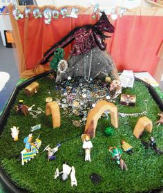 Dragons lair small world EYFS
