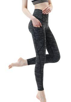 Tesla Yoga Pants High-Waist Tummy Control w Hidden Pocket Best Leggings, Women's Leggings, Tights, Yoga Pants With Pockets, Big Thighs, Waist Workout, Athletic Pants, Athletic Sport, Yoga Wear