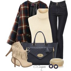 Double Pockets Plaid Coat by ccroquer on Polyvore featuring Étoile Isabel Marant, Barbara Bui, Mulberry, The Limited and Brooks Brothers