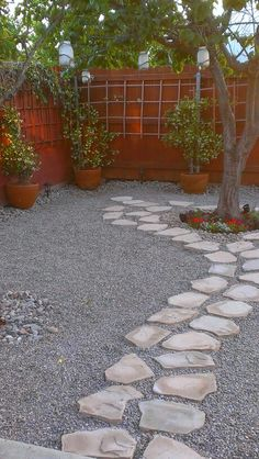 Gravel and flagstone