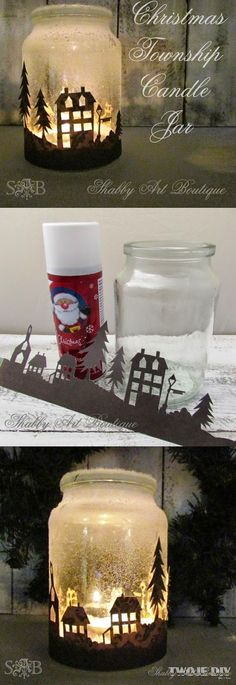 16 Very Merry Christmas Diy Decoration Ideas - Hit DIY Crafts Noel Christmas, Handmade Christmas, Christmas Ornaments, Christmas Night, Christmas Candles, Minion Christmas, Rudolph Christmas, Christmas Projects, Holiday Crafts