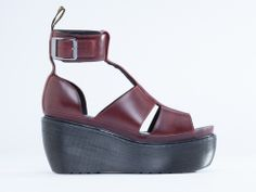 Dr. Martens Bessie in Oxblood Brando at Solestruck.com