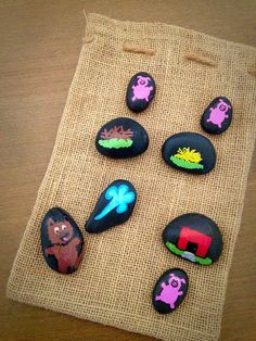 Three Little Pigs Story Stones by starrygirlb on Etsy