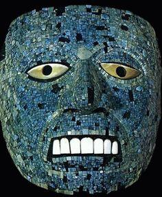 Mascara de turquesas,azteca  Museo Nacional de Antropologia