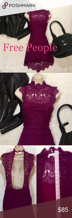 a803bf069 FREE PEOPLE NEW BOLD MAGENTA DRESS LOW CUT BACK FREE PEOPLE NEW MAGENTA  DRESS LOW CUT