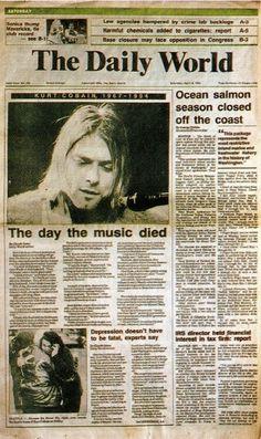 http://www.ononeonline.com the day the music died... Kurt Cobain Nirvana