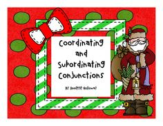 "This is a Powerpoint to help students identify appropriate coordinating and subordinating conjunctions.  Students will choose the appropriate ""conjunction tape"" to finish wrapping the gift (words/phrases/sentences on the packages).  This can be used as a whole group review, small group or individual task in ELA journals or as an assessment where students write the sentences with the appropriate coordinating or subordinating conjunction."