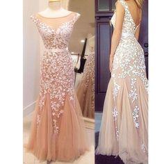 Long Elegant Modest Appliques Lace Mermaid For Teens Evening Prom Dresses. RG0093