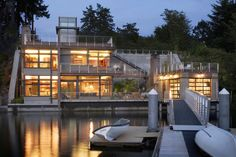 Located on the water's edge in Gig Harbor, Washington, the Cliff House is tucked against the wall of a cliff. Designed by architect Scott Allen, the unique site required innovative design and planning.