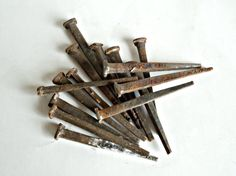 15 Antique Rusty Square Head Nails Salvage Hardware by TreasureCoveAlly on Etsy