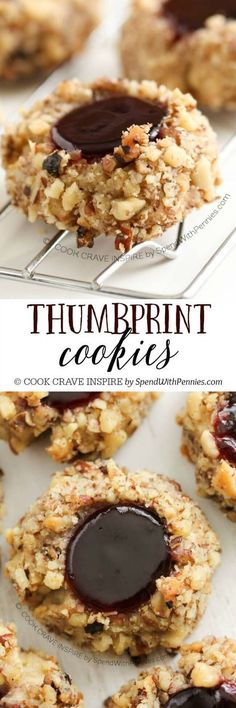 Thumbprint cookies are a classic Holiday cookie that should be on every Christmas cookie plate! You can use either pecans or walnuts and fill them with seedless raspberry and mint jelly!