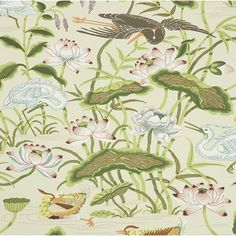 Wildon Home Nostalgia Floral Wallpaper Green White Matte Finish 10m L x 52cm W