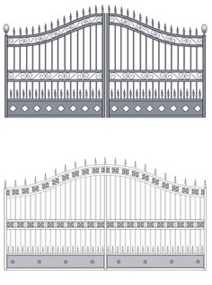 BFC Iron Gate Wall Design, Grill Gate Design, House Main Gates Design, Front Gate Design, Main Door Design, Wrought Iron Driveway Gates, Iron Garden Gates, Iron Gates, Modern Steel Gate Design
