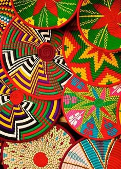 Guatemala baskets. Gorgeous, so colorful