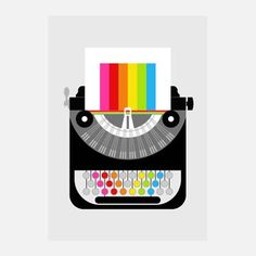 Rainbow Writer Print, 23€, now featured on Fab.
