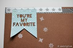 You're My Favorite Banner (free Silhouette .studio cut file) by Christine Newman #Silhouette #CutFile