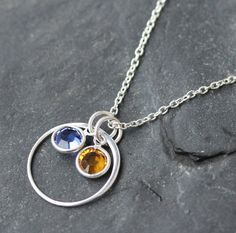 Mother Necklace Birthstone Jewelry Sterling by SimplisticaDesign, $28.00