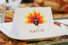 Crafting with Kids: Easy Thanksgiving Place Cards