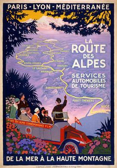 Vintage 1920s French Route Des Alpes France