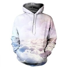 Pastel Clouds Hoodie pullover sublimation YO PRNT