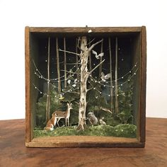 diorama ideas Throwback to this little creature conference. One of two pieces in Enough To Swear By, an exhibition of miniature art at Transylvania Shadow Box Kunst, Shadow Box Art, Arte Assemblage, Box Noel, Arte Pop Up, Paper Art, Paper Crafts, Nature Crafts, Art Plastique