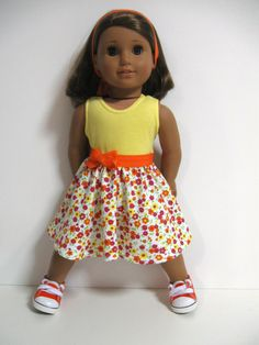 American Girl Doll Clothes Spring Garden by 123MULBERRYSTREET, $22.00