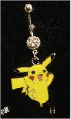 Another super cute geeky belly button ring! Pokemon Pikachu Navel - Style 2