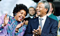 Winnie Madikizela-Mandela and Nelson Mandela in 1990, months after he emerged from 27 years in jail. They divorced in 1996. Photo: TS/Keysto...