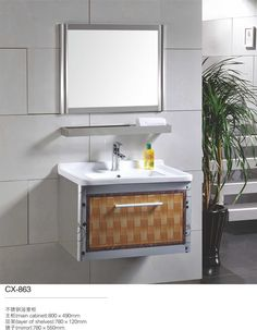 Stainless Steel Bathroom Vanity Cabinet | Modern Stainless Steel Bathroom  Cabinet | Pinterest | Bathroom Vanity Cabinets, Bathroom Cabinets And  Bathroom ...