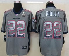 5a082d7d1 2015 New New England Patriots 22 Stevan Ridley Drift Fashion Grey Superbowl  Elite Jerseys.