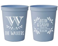 Personalized Wedding Cups Happily Ever After Custom