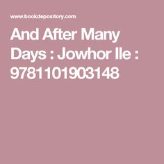 And After Many Days : Jowhor Ile : 9781101903148